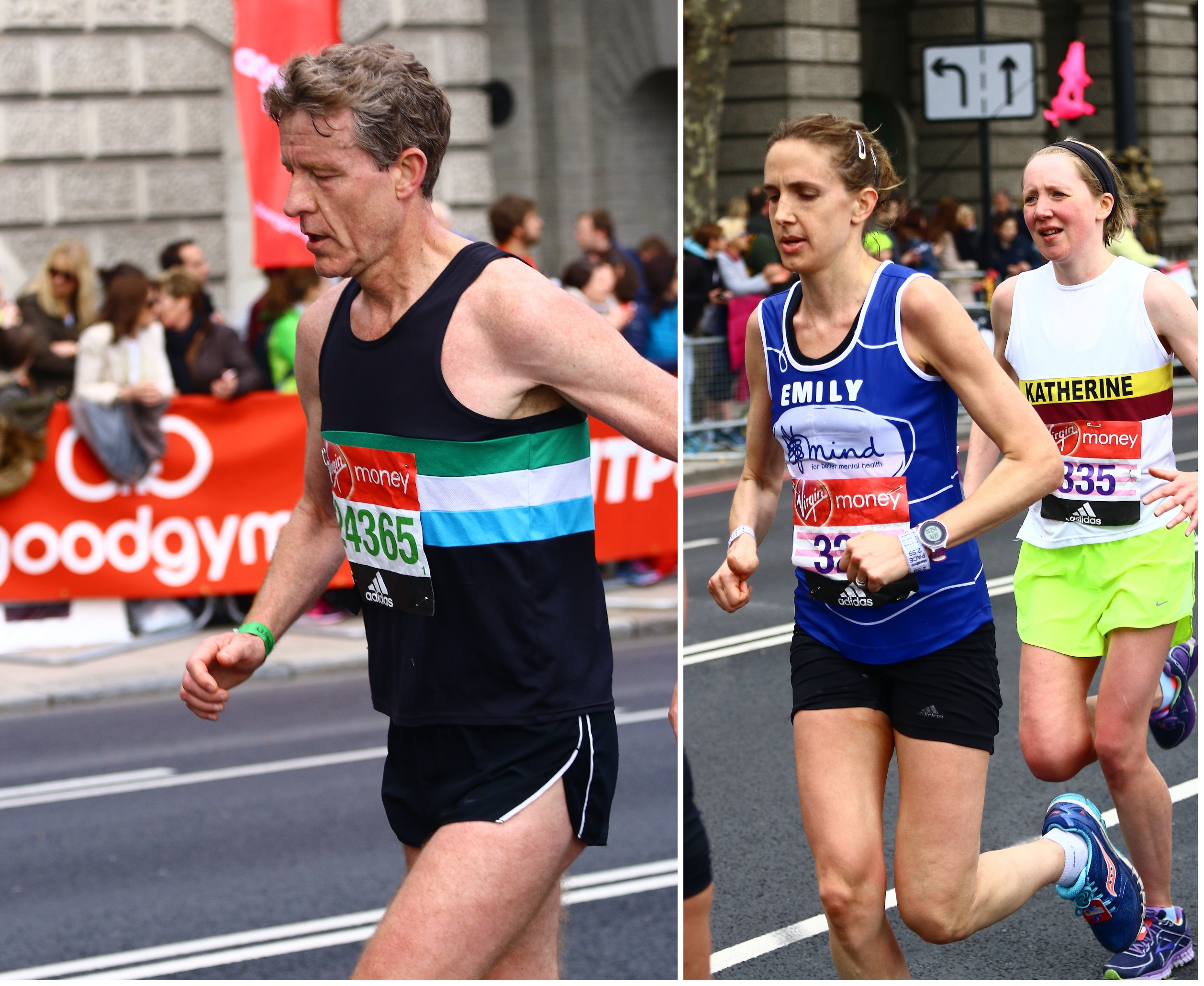 Chris Finill and Emily Antcliffe in the London Marathon