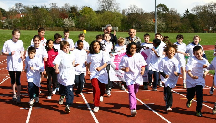 Triple jumper Jonathan Edwards visited during the build up to London 2012